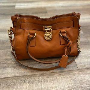 Michael Kors cognac brown leather purse satchel